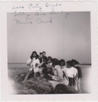 LADS At Short Beach, Summer Of 1958. Anne, Patty, Barb, Lolly, Dee, Sandy, Mercie And Carol.